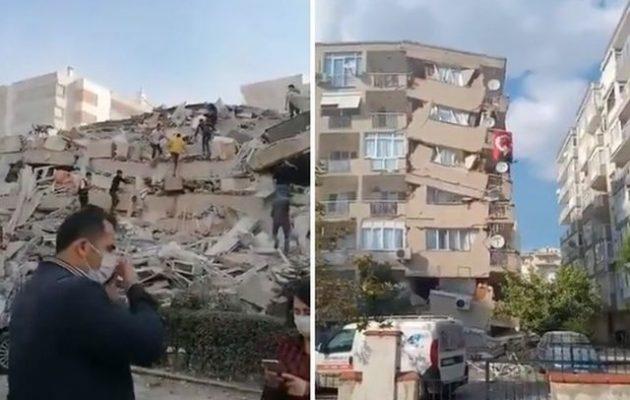 Ισχυρός σεισμός: Έπεσαν κτίρια στη Σμύρνη (φωτο+βίντεο)