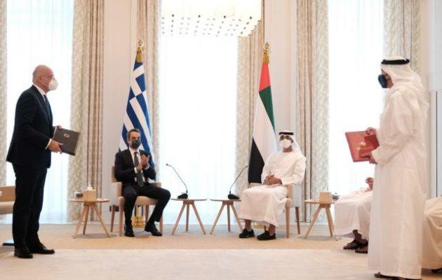 Νίκος Δένδιας: Συμφωνία κοινής συνεργασίας με Εμιράτα σε εξωτερική πολιτική και άμυνα