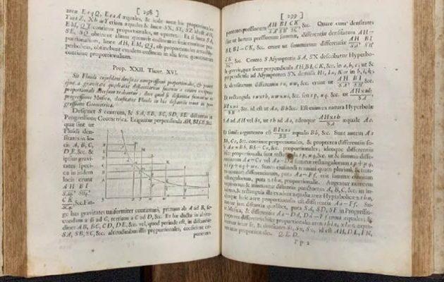 Ανακαλύφθηκαν εκατοντάδες αντίτυπα της 1ης έκδοσης του έργου «Principia» του Νεύτωνα