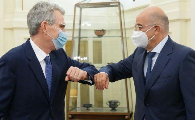 Τζέφρι Πάιατ και Νίκος Δένδιας συζήτησαν τις εξελίξεις στην Ανατ. Μεσόγειο