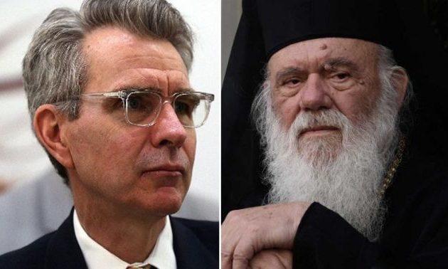 Ο Τζέφρι Πάιατ ευχήθηκε «περαστικά» στον αρχιεπίσκοπο Ιερώνυμο
