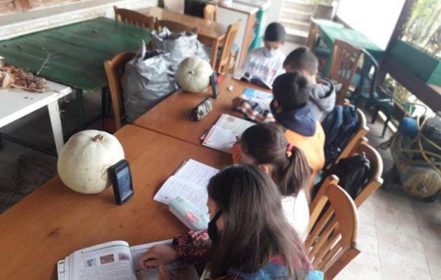 Αλέξης Τσίπρας: Ιδού το φιάσκο της τηλεκπαίδευσης – Πέντε μικρά παιδιά μέσα στο κρύο με δύο κινητά