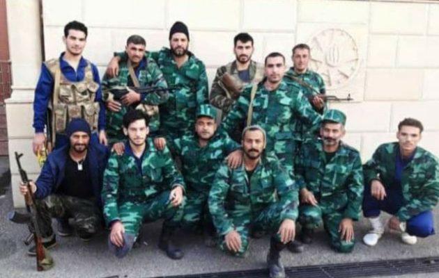Τουρκμένοι της Συρίας μισθοφόροι στο Αζερμπαϊτζάν ποζάρουν αναμνηστικά