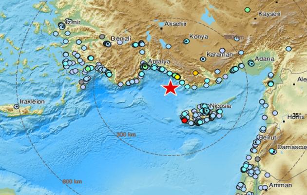 Ισχυρός σεισμός 5,2 Ρίχτερ στην Τουρκία – Ταρακουνήθηκε η Ρόδος
