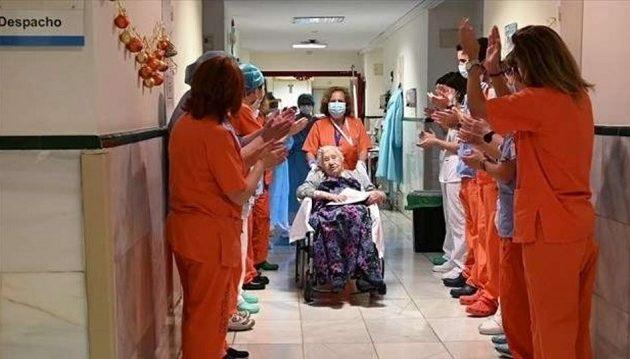 104χρονη Ισπανίδα νίκησε τον κορωνοϊό