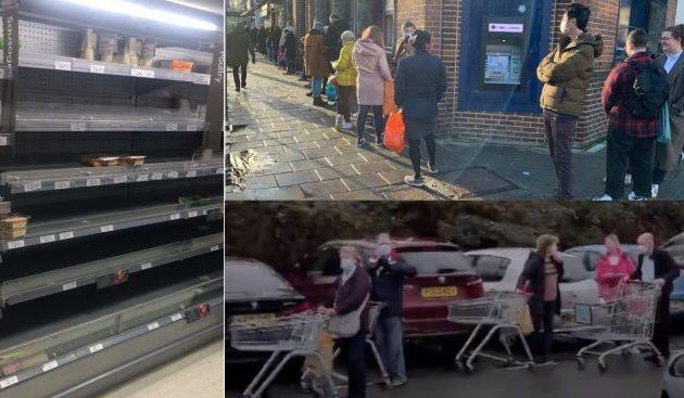 Οι Βρετανοί έτρεξαν στα σουπερμάρκετ για να κάνουν προμήθειες