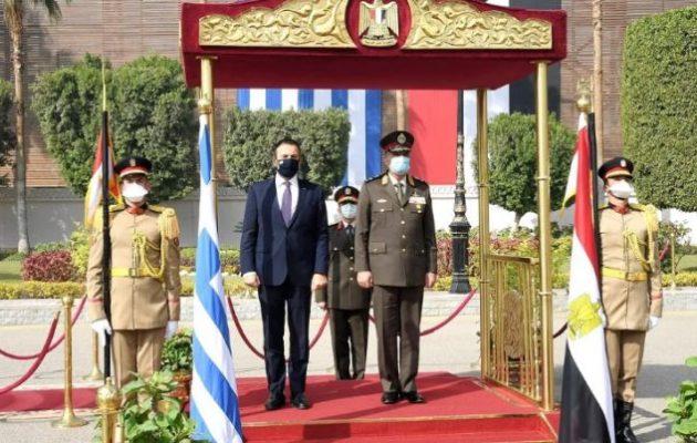 Σίσι σε Παναγιωτόπουλο: Επιθυμώ περαιτέρω ενίσχυση της στρατιωτικής συνεργασίας Αιγύπτου-Ελλάδας