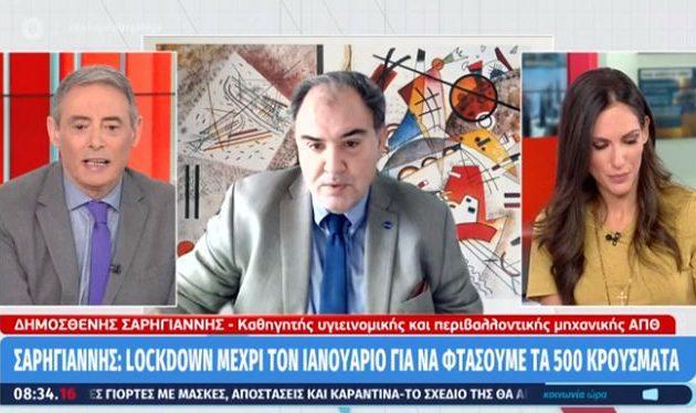 Καθηγητής Σαρηγιάννης: Επικίνδυνο να «ανοίξει» η χώρα την επόμενη εβδομάδα