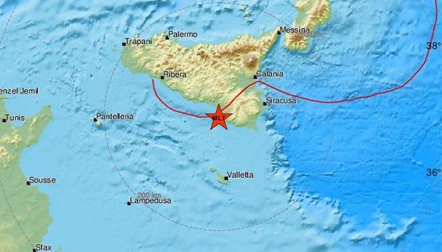Σεισμός 4,8 Ρίχτερ ταρακούνησε τη Σικελία