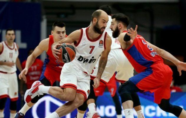 Euroleague: Δεν τα κατάφερε στη Μόσχα ο Ολυμπιακός 80-61 από την ΤΣΣΚΑ