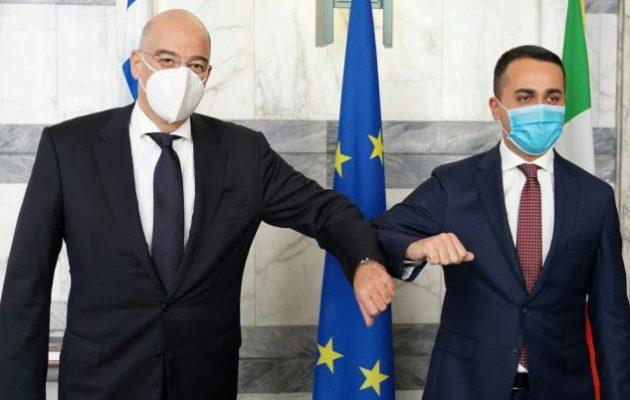 Νίκος Δένδιας: Με την Ιταλία συνδεόμαστε με ισχυρούς δεσμούς