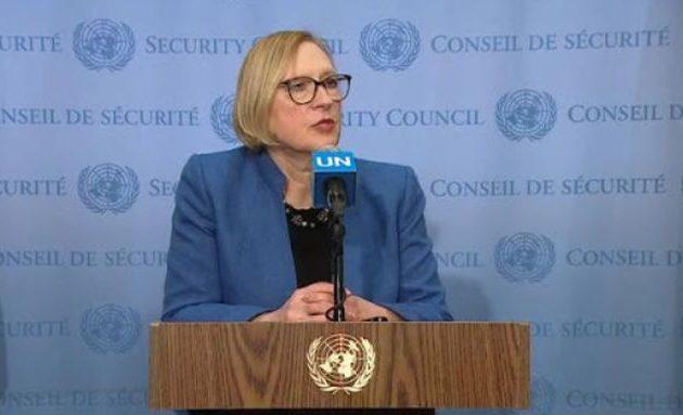 Η Σπέχαρ είπε στο ΣΑ του ΟΗΕ ότι τα δύο κράτη στην Κύπρο που ζητούν οι Τούρκοι είναι «διαφορετική προσέγγιση»