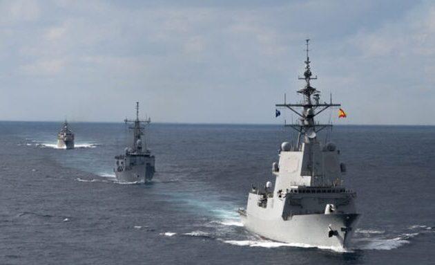 Συνεκπαίδευση πολεμικών μας πλοίων με τουρκική και ισπανική φρεγάτα νότια και ανατολικά της Κρήτης (βίντεο)