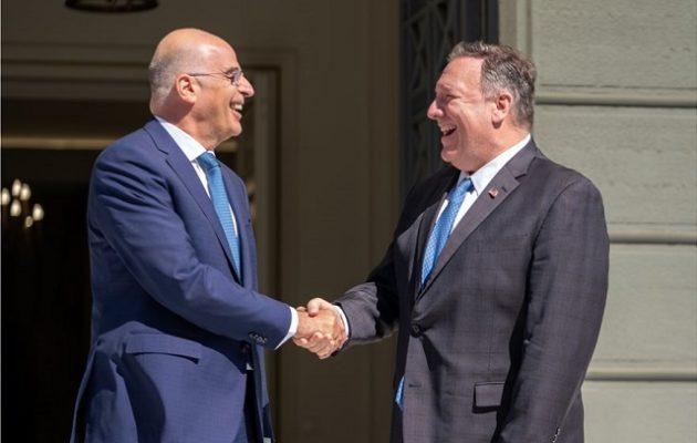 Πόμπεο: ΗΠΑ και Ελλάδα διασφαλίζουν την ελευθερία – Καταπληκτικός επαγγελματίας ο Δένδιας