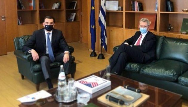 Συνάντηση Σκρέκα-Πάιατ: «Η συνεργασία Ελλάδας-ΗΠΑ στην ενέργεια αποτελεί εχέγγυο για ασφάλεια και σταθερότητα»