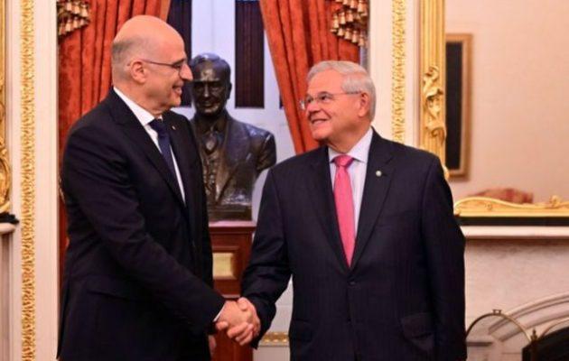 Ο Μενέντεζ πρόεδρος της Επιτροπής Εξωτερικών της Γερουσίας – Συγχαρητήρια από ΥΠΕΞ