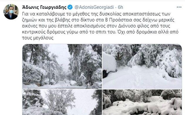 Πρωτοφανής οργή στο Twitter σε ανάρτηση του Άδωνι: «Άσε τις φωτογραφίες και έλα να σώσεις τα παιδιά μου ζώον!»