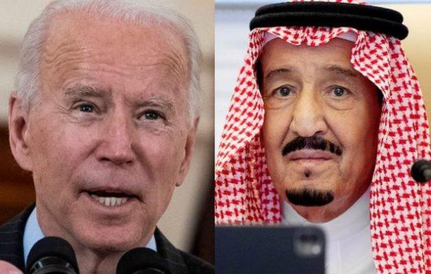 Ο Μπάιντεν τόνισε στον βασιλιά Σαλμάν ότι θα «τους καταστήσει υπόλογους για παραβιάσεις ανθρωπίνων δικαιωμάτων»