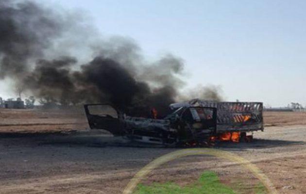Αεροπορικό πλήγμα κατέστρεψε φορτίο όπλων στα σύνορα Συρίας-Ιράκ που προοριζόταν για μισθοφόρους του Ιράν