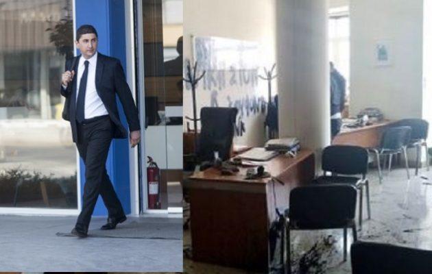 Ηράκλειο: Επίθεση στο γραφείο του υφυπουργού Αθλητισμού Λ. Αυγενάκη