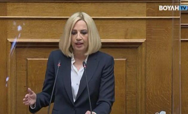 Γεννηματά: Υποκριτική η στάση Μητσοτάκη σε μία περίοδο έξαρσης της κρίσης και με την Τουρκία να αλωνίζει