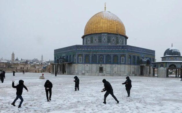 Χιονοπόλεμος στην Ιερουσαλήμ – Χιόνια σε Ισραήλ, Λίβανο, Συρία, Ιορδανία