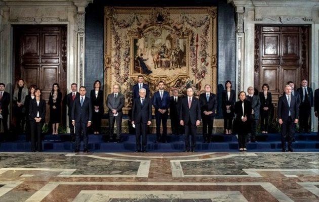 Ορκίστηκε η κυβέρνηση Ντράγκι – Συγχαρητήρια Κυριάκου Μητσοτάκη
