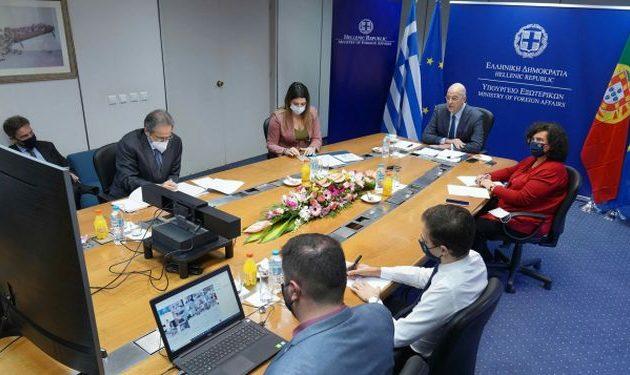 Τηλεδιάσκεψη με τους πρέσβεις της ΕΕ είχε ο Νίκος Δένδιας