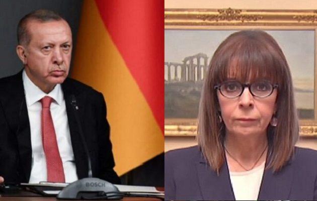 Ο Ερντογάν έστειλε επιστολή στη Σακελλαροπούλου για την 25η Μαρτίου