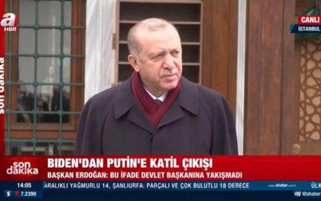 Πανηγυρίζει η Ρωσική Πρεσβεία στην Άγκυρα με τη δήλωση Ερντογάν κατά Μπάιντεν