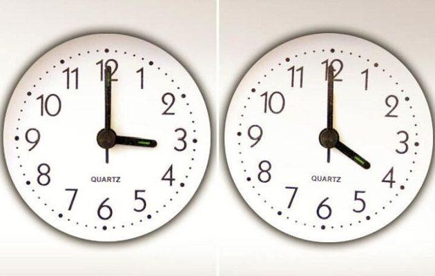 Αλλαγή ώρας την Κυριακή