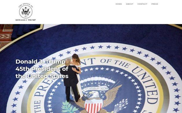 Ο Ντ. Τραμπ εγκαινίασε τον ιστότοπό του 45office.com