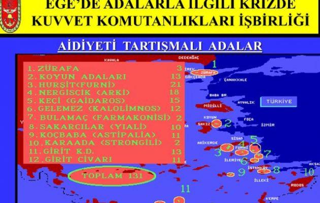 Nordic Monitor: Απόρρητα τουρκικά σχέδια για εισβολή σε 131 νησίδες και βραχονησίδες στο Αιγαίο