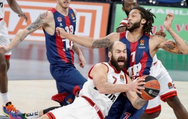 Εuroleague: Μπασκόνια-Ολυμπιακός 91-66 – Έβδομη συνεχόμενη ήττα για τους ερυθρόλευκους