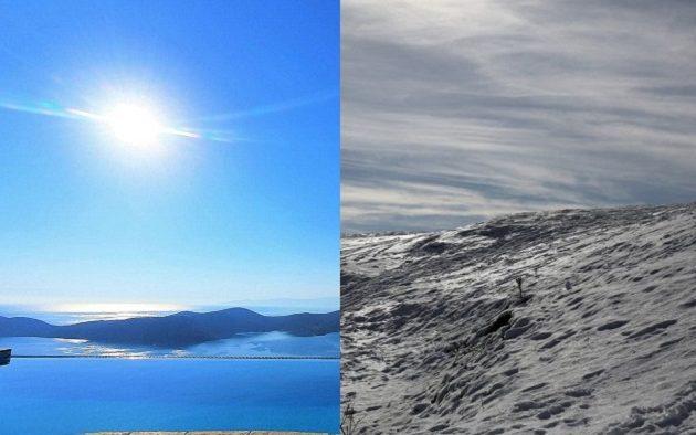 Ο καιρός τρελάθηκε στην Ελλάδα: Διαφορά 26 βαθμών από βορρά σε νότο