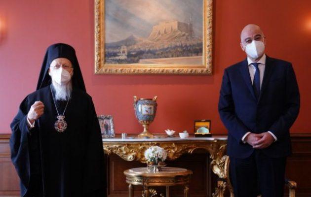 Ο Δένδιας συναντήθηκε με τον Πατριάρχη στην Κωνσταντινούπολη