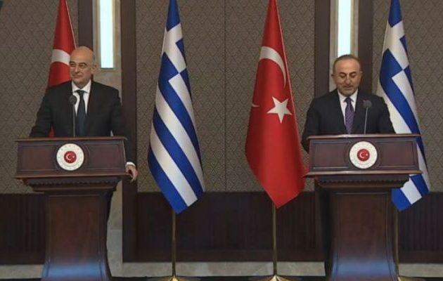 «Μονομαχία» στον «αέρα» Δένδια-Τσαβούσογλου – Ο Έλληνας έβαλε τον Τούρκο στη θέση του