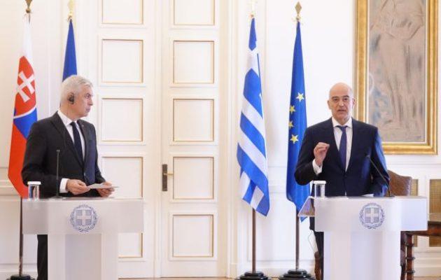 Η Σλοβακία ισχυρά με την Ελλάδα – Τι είπαν Δένδιας-Κόρτσοκ για Κυπριακό και Δυτ. Βαλκάνια