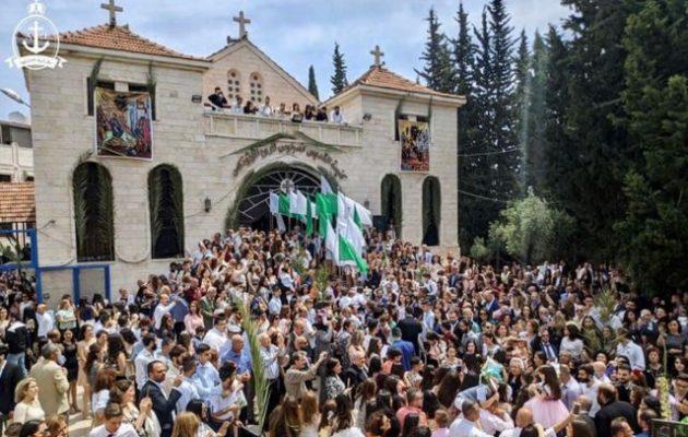 Ελληνορθόδοξη Κυριακή των Βαΐων στη Λαοδίκεια της Συρίας