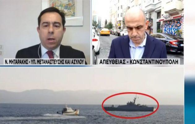 Μηταράκης: Δεν θεωρούνται πρόσφυγες όσοι συνοδεύονται από πολεμικά πλοία