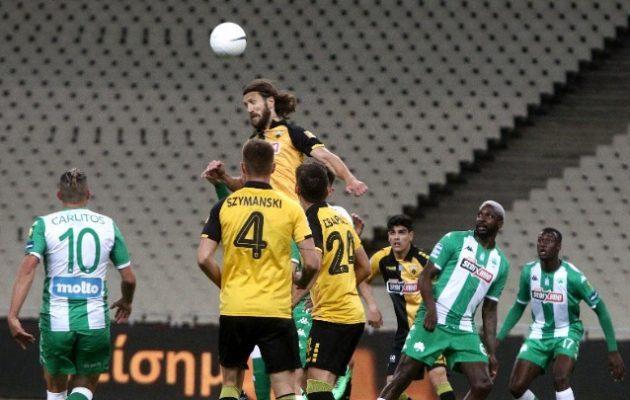 Στις καθυστερήσεις «τσίμπησε» βαθμό η ΑΕΚ 1-1 με τον Παναθηναϊκό