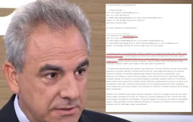 WikiLeaks: Ο Ντόκος έστειλε έκθεση στην Τουρκική Πρεσβεία πώς να συνδυαστούν περιφερειακές φιλοδοξίες με ένταξη στην ΕΕ