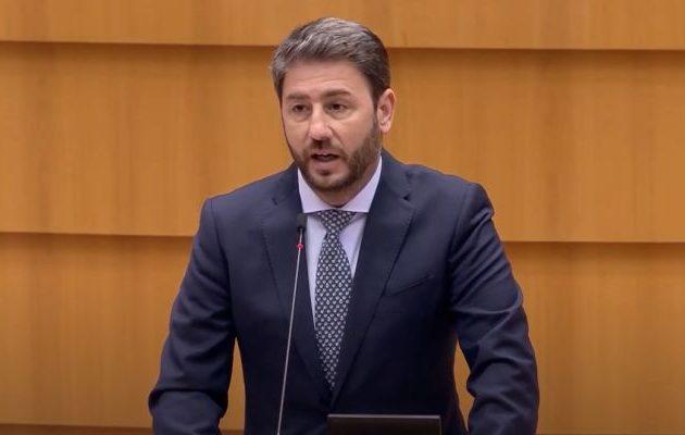 Νίκος Ανδρουλάκης: Μόνη ρεαλιστική πολιτική απέναντι στον Ερντογάν η αναστολή των ενταξιακών διαπραγματεύσεων