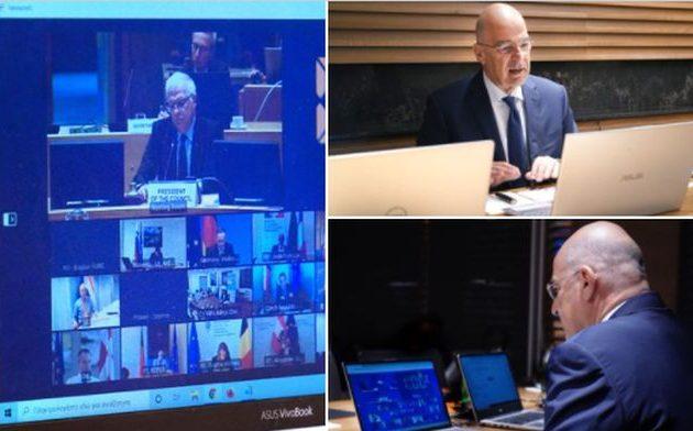 Ο Νίκος Δένδιας συμμετείχε από το Ισραήλ στην τηλεδιάσκεψη των Ευρωπαίων ΥΠΕΞ – Τι δήλωσε στους δημοσιογράφους
