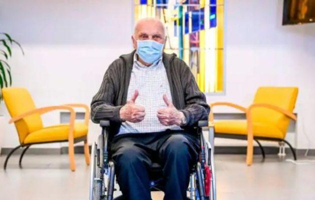 «Έφυγε» στα 97 του ο πρώτος Βέλγος που εμβολιάστηκε κατά της Covid-19