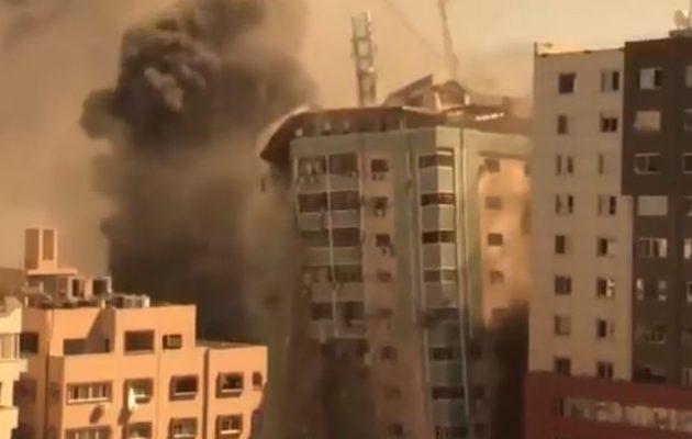 Τι είπε ο Νετανιάχου στον Μπάιντεν για την καταστροφή του πολυώροφου κτιρίου στη Γάζα με τα γραφεία ΜΜΕ