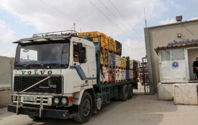 Παλαιστίνιοι τζιχαντιστές βομβάρδισαν φάλαγγα με ανθρωπιστική βοήθεια προς τη Γάζα