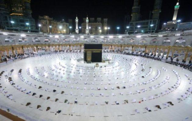 Υπό την τήρηση ειδικών συνθηκών προστασίας το ιερό προσκύνημα στη Μέκκα