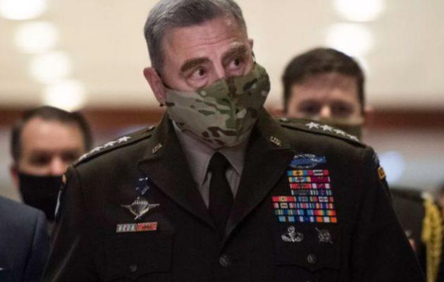Στρατηγός Μαρκ Μίλεϊ: Κίνδυνος ευρύτερης αποσταθεροποίησης πέρα από τη Λωρίδα της Γάζας