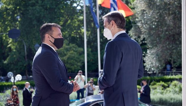 Mητσοτάκης σε Ζάεφ: Πλήρης εφαρμογή της Συμφωνίας των Πρεσπών